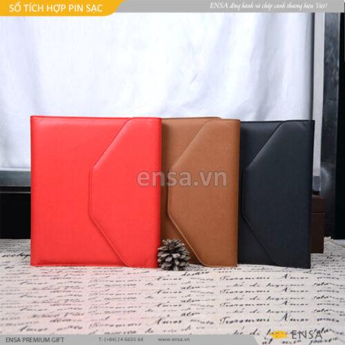 sổ tích hợp pin sạc độc đáo, quà tặng sổ kết hợp sạc pin