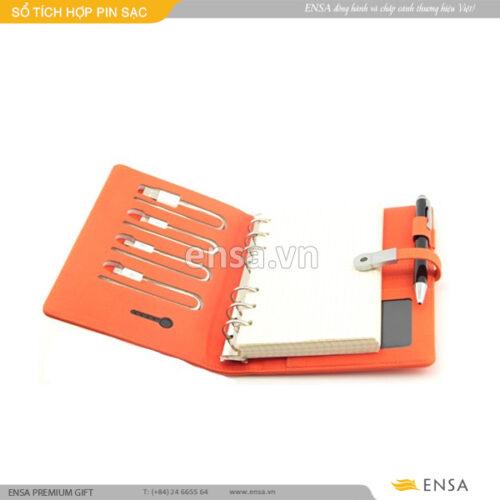 quà tặng sổ tích hợp pin sạc điện thoại độc đáo